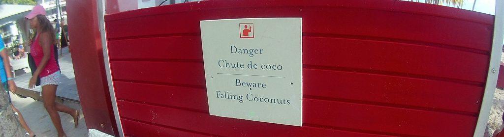 Vorsicht vor Kokosnüssen