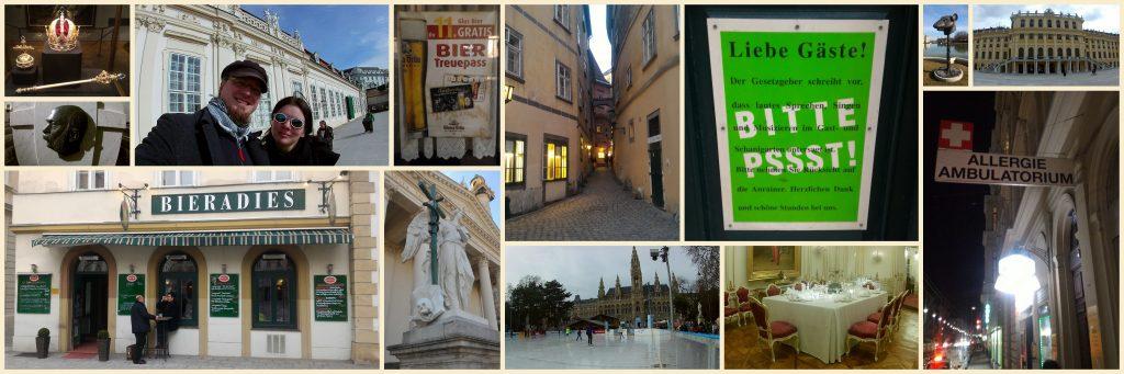 verschiedene Bilder aus Wien